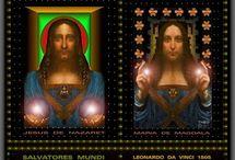 HRISTOS-ANNO DOMINI 33-PICTURI DE LEONARDO DA VINCI ȘI THEODORO GIL-BORAS