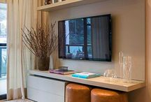 Diseños muebles estudio tv