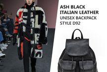 Marlafiji   Ash Black Unisex Italian Leather Handbag / Get rugged up this winter guys.. perfect match with Ash black unisex Italian leather handbag  http://marlafiji.com/en/bags/shoulder-bag/ash-black-unisex-italian-leather-backpack-detail.html
