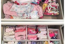 Organizando coisas do bebê
