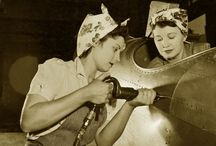[1940s] ~ working women / │ 1940s vintage fashion for working women │ during WWII, women were encouraged to take on men's jobs and they began wearing utility clothing to do this work │WW2 fashion │