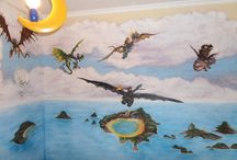 How to train your dragon wall mural / How to train your dragon wall mural #wallmural #mural Így neveld a sárkányodat falfestés, gyerekszoba festés #gyerekszobafestés #falfestés