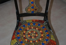 Mosaic chair makeover