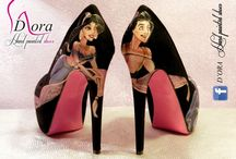 Aladdin Shoes II / https://www.facebook.com/pages/DORA-Hand-Painted-Shoes/144006675801939 #handpainted #hand #painted #shoes #scarpe #dipinteamano #dipinte #art #fashion #high #heels #plateaux
