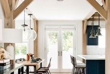 Wood beam in a home