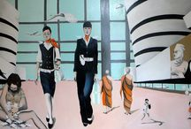 Airport Two / Peace & Love Oil on Canvas 200 x 150 cm Designed by EDVARDA