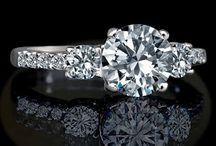 Simulated Diamond Anniversary Rings