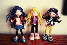Girls Nosotras!! mis propias chikas Nosotras, elaboradas en goma eva / Mar, Mia y Tami