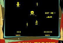 Gunfight - 1975 / Gunfight, an arcade game that was the first to feature a CPU.