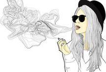 artsy drawings (tumblr)