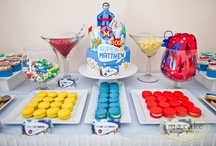 Superhero Party / Great party ideas to help you throw a fun, colorful, and sweet Superhero party for Superman, Batman, the Avengers and more. Featuring decorations, party ideas, dessert tables, party favors , free printables, and more.