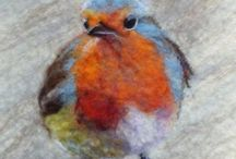Felted Birds & Things With Wings / Felted and needle felted birds and things with wings