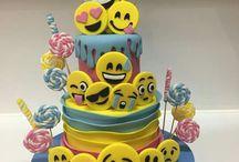Bolos de aniversário de emojis