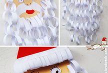 joulupukki paperiketjuista
