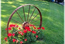 Garden with Wagon Wheels / by Cheryl Parrott Jewelry