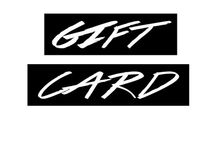 GIFT CARDS / An idea for the gentleman who just wants to gift a little something and doesn't have time to look for a unique gift