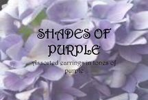 SHADES OF PURPLE / Unique, handmade earrings in shades of PURPLE