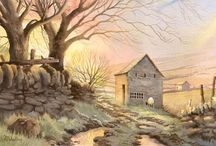 Peter Woolley / Watercolour paintings by Peter Woolley (watercolor)