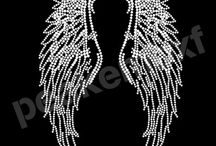 Angel Rhinestone Heat Transfer / Angel Rhinestone Heat Transfer