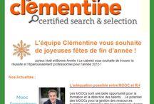 Newsletters du cabinet Clémentine / Retrouvez tous les mois un récapitulatif des actualités RH et IT, une analyse des métiers de l'informatique et du web, ainsi que toutes nos opportunités de poste dansle digital !
