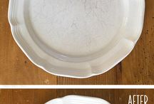 Removing scratches from dishes