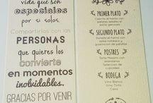 tarjeta menu boda