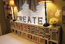 Craft Room-Organization Ideas / by Thressa Lambert