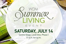 Summer Living / West Edmonton Mall's Summer Living Event is this Saturday, July 14 on Centre Stage, Level One, Phase I from 11 a.m. to 4 p.m. Learn about this summer's trends in outdoor furniture, backyard entertaining and gardening. This free event features hourly educational programming that will leave you wanting to spend all your spare time outdoors! / by West Edmonton Mall
