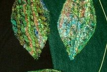 Fabric leaves