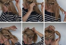 Pony tails/braids