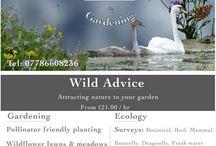 wildlife gardening business cards