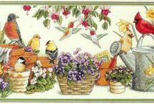 cross stitch-Birds