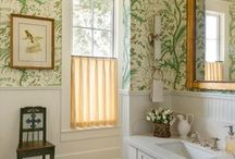 Bathroom inspiration / Bathroom design and decoration inspiration. Bathroom wallpapers, wall coverings and fabrics, interior design schemes that inspire us.