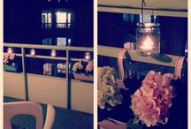 -Balcony / Diy balcony, candles and decoration