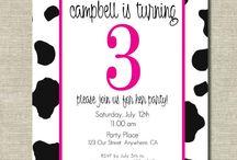 Farm cow birthday party