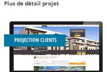 Site Internet pour l'immobilier / 90% des acquéreurs passent par internet.