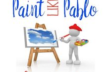 Paint Like Pablo by HTP / Paint Like Pablo is a preprinted guide canvas painting system.  We are seeking retailers nation wide and abroad as well.  Please inquire at hello@htpaint.com