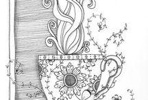 Zentangle - inspirace / Inspirace pro všechny, kteří si rádi čmárají
