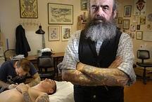 Tattooists, barber and cool cats