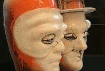 мысли о ИТАЛИИ / мысли о ИТАЛИИ  2 скульптуры - бюсты  сдельно по мотивам поездки в Италию Флоренция Венеция