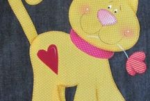Anna's Applique / This is my granddaughter's board of applique designs she likes.