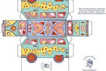 KARTON-oyuncak-Cardboard caravan construction