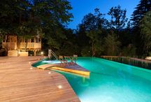 Illuminated Pools / Pools aren't only meant to look peaceful and fabulous during the day, the right lighting can really highlight this architectural element at night as well.