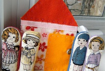 Dolly Ideas! / Cute ideas using our fabric Paper Doll lines!  Quilts, wall and door hangings, carriers, stand-up Paper Doll houses, campsites, schoolhouse quilts, stuff-able dolls, and more!  The possibilities have been such fun!