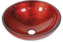 Skleněná umyvadla / Glass basins / Sklo je synonymem kreativity a evokuje inspiraci a představivosti řemeslného zpracování. Díky flexibilitě výrobních procesů, vášně a zkušeností sklářských mistrů umožňuje vznik produktů určených k obohacení koupelny. Skleněné umyvadlo v barevných provedeních se sofistikovaným povrchem a tvary vytváří z koupelny emocionálně pozitivní prostor.
