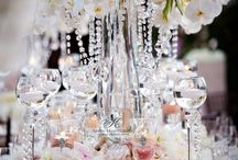 Bling Inspiration / High-end wedding glitz and glamour enveloped in crystal, sequins and pearls :: Fashion, tablescapes and accessories :: Blingosity. / by Carol Kent