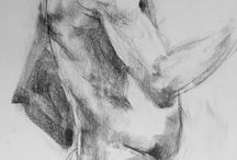 Gesture Drawings:  College level