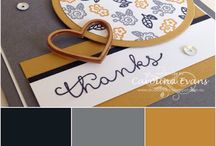 Colour Combos / Stampin Up Colour Combination Ideas