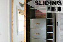 DIY SLIDING DOOR MIRROR