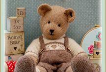 teddy bears and nursery toys
